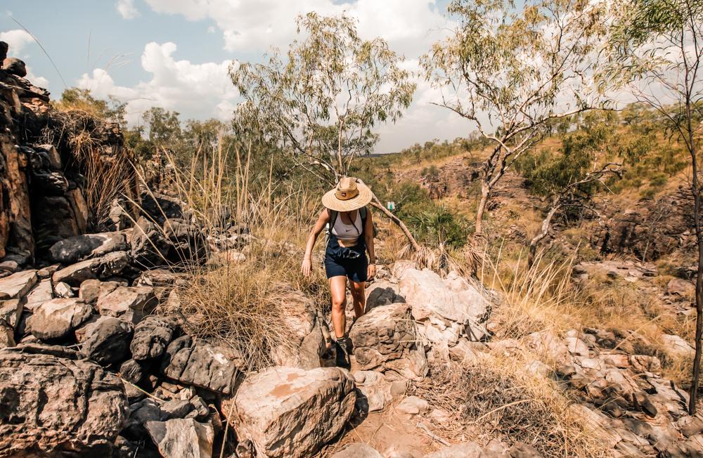 Wandern bei extremer Hitze im Nitmiluk National Park in Australien Erfahrungsbericht