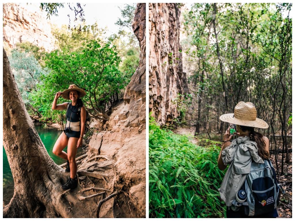 Abenteuer Australien Northern Territory Katherine Gorge Nitmiluk National Park Wandern bei 40 Grad