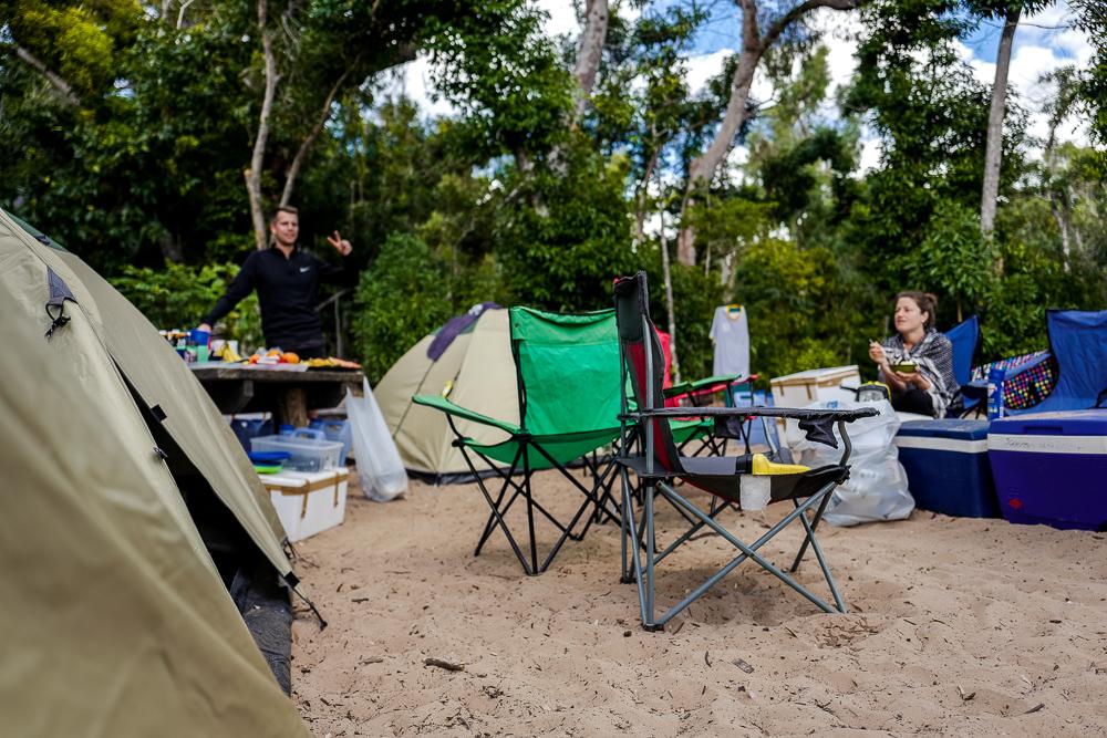 Camping am Whitehaven Beach Queensland Australien