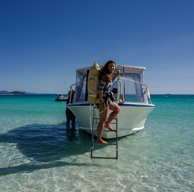 Camping am Whitehaven Beach Queensland Australien
