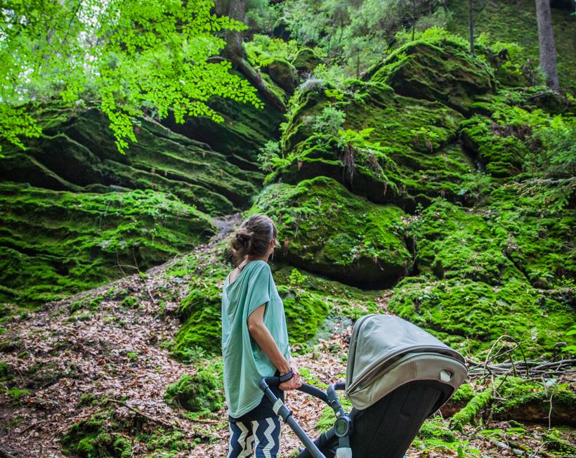 Mit Kind & Kegel über Stock & Stein in der Sächsischen Schweiz: Der BUGABOO BUFFALO im Test