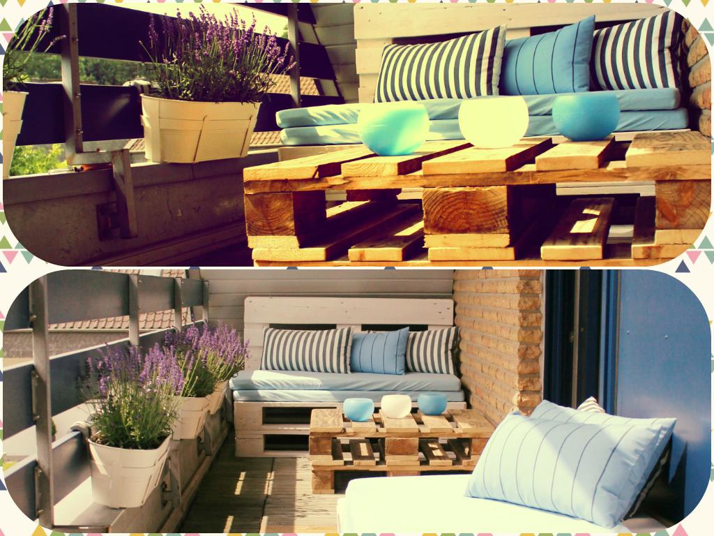 Möbel aus Paletten- oder wie ich meine Loggia zu einer Loungeterrasse verwandelt habe