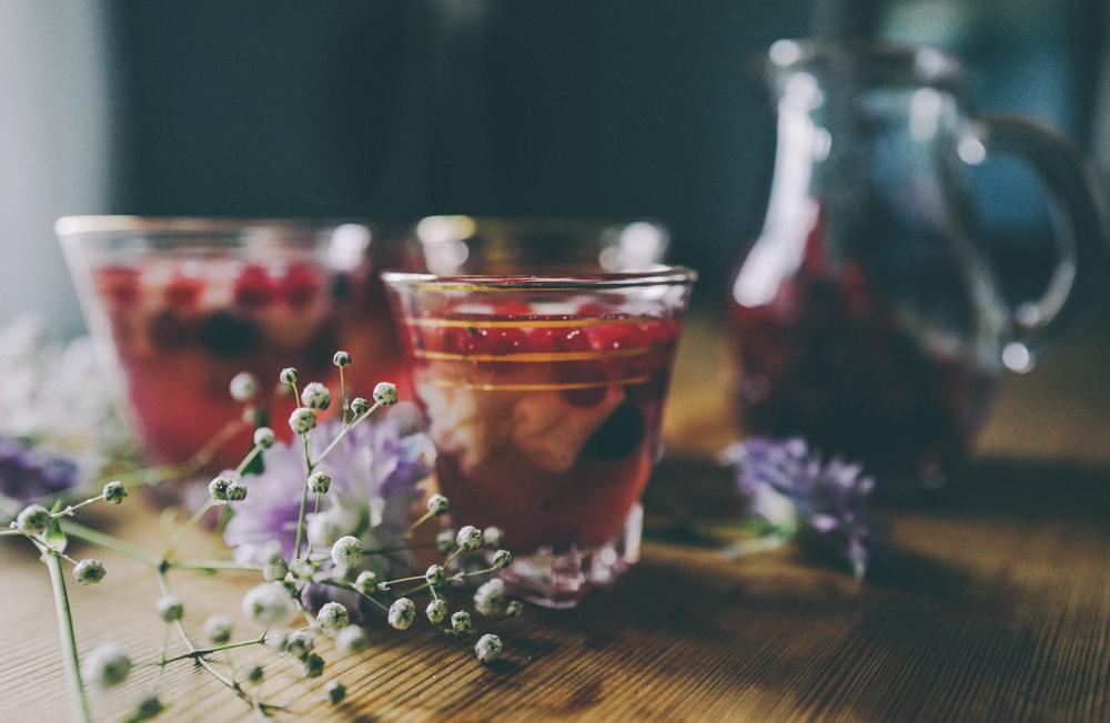 Jules Mumm alkoholfrei Blaubeere Vanille Sorbet Rezept für den Sommer