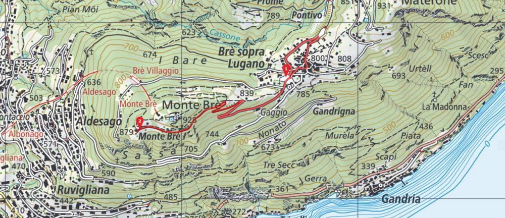Karte Schweiz Blogger Bike Challenge 2018 Monte Bre
