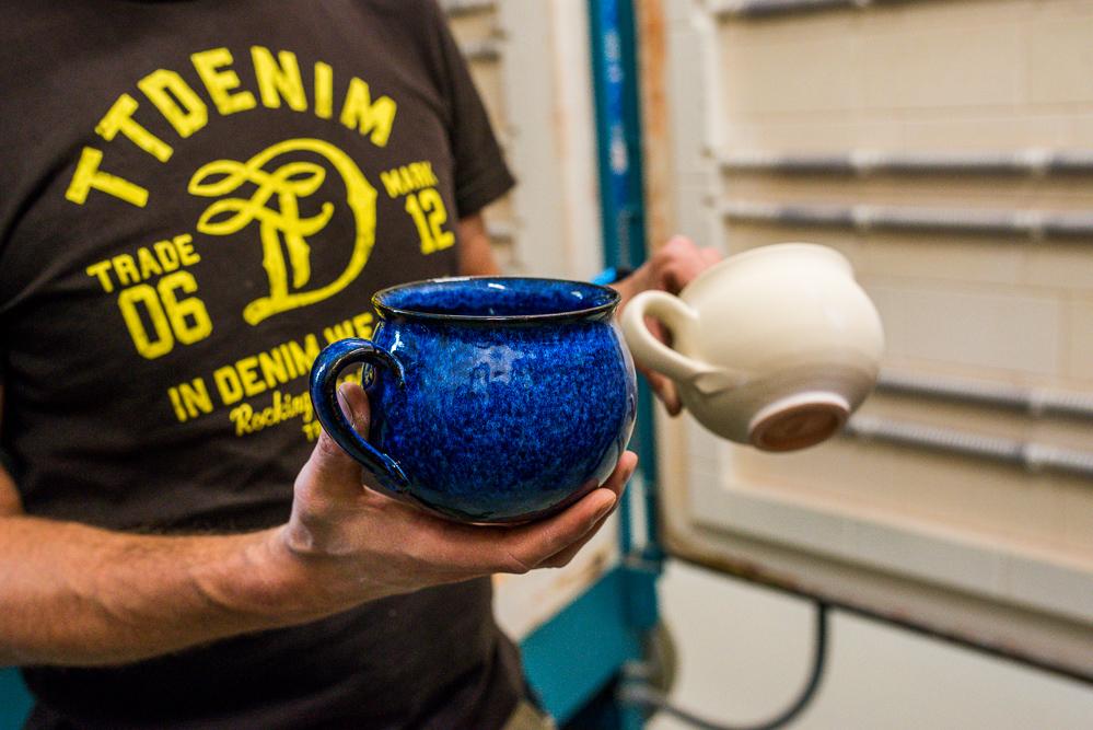 Koenigsblau Keramik Gut Schmerwitz Toepfern Scarabaeus
