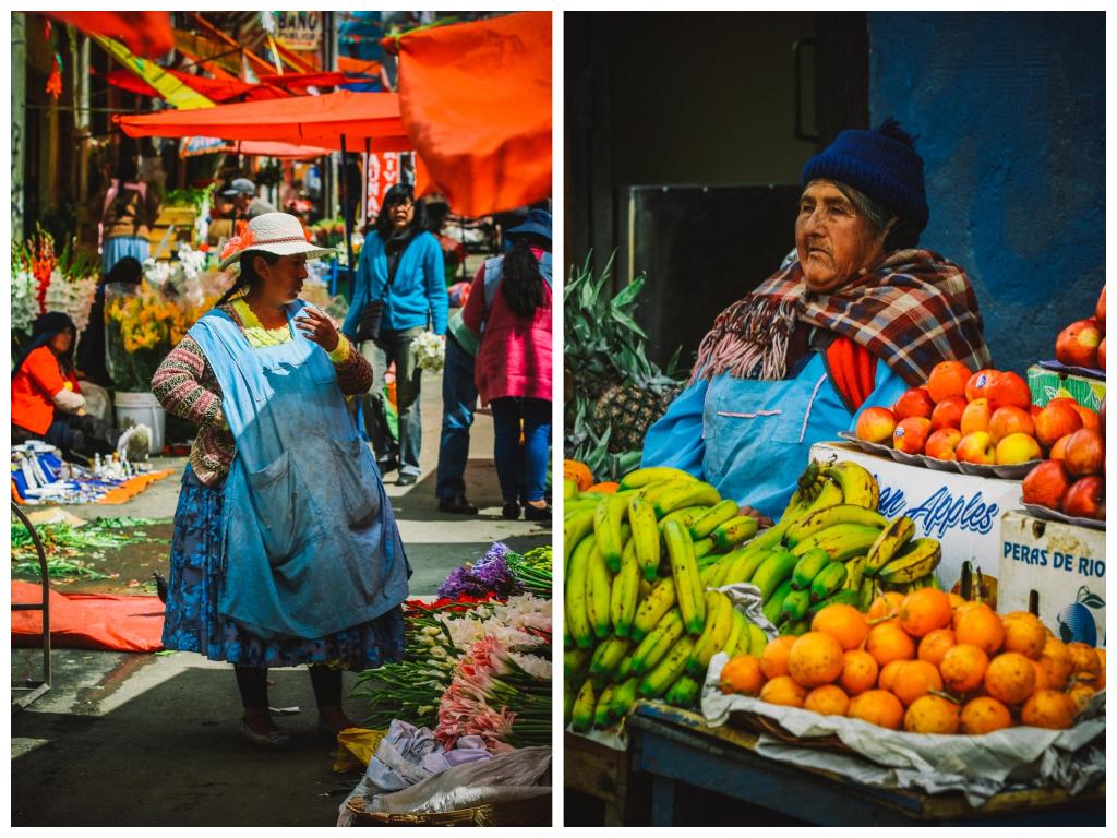La Paz Markt Bolivien