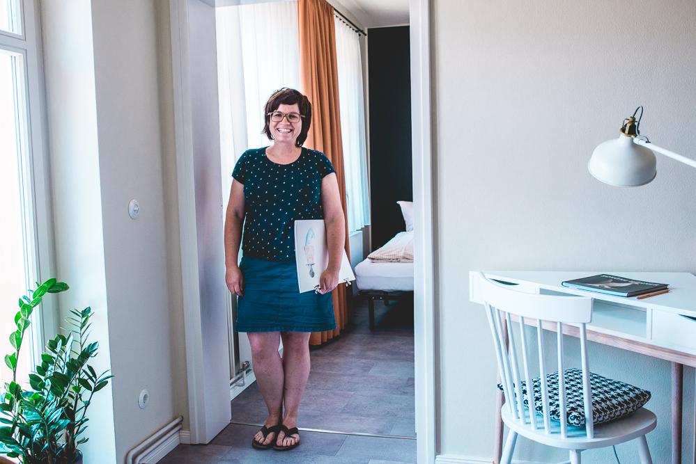 Stefanie Jeschke Huehnerhof Appartements Treuenbritzen Malkurs