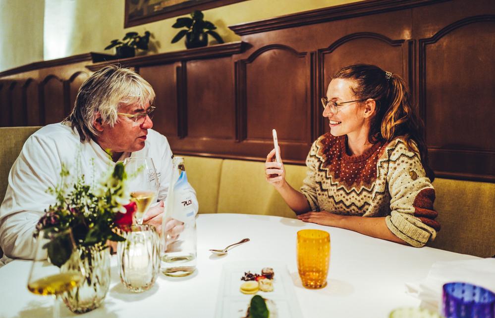 Abendessen im Restaurant Zur Rose in St. Michael