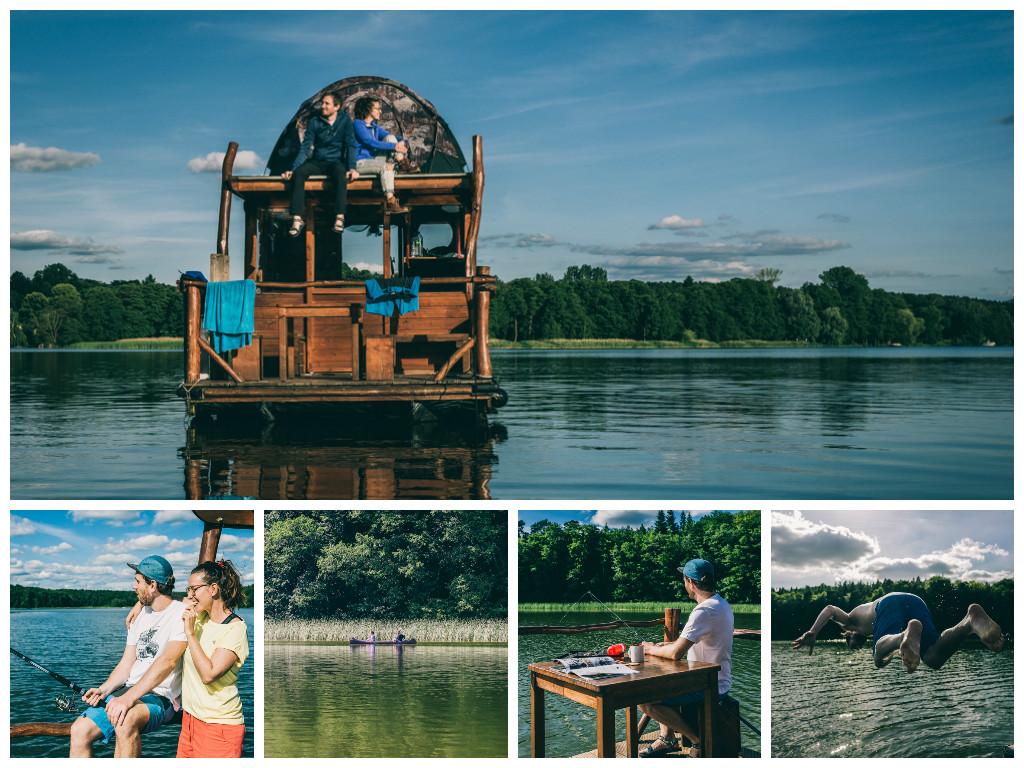 Weekendebasecamp mit The Northface Hausfloß Treibgut Brandenburg