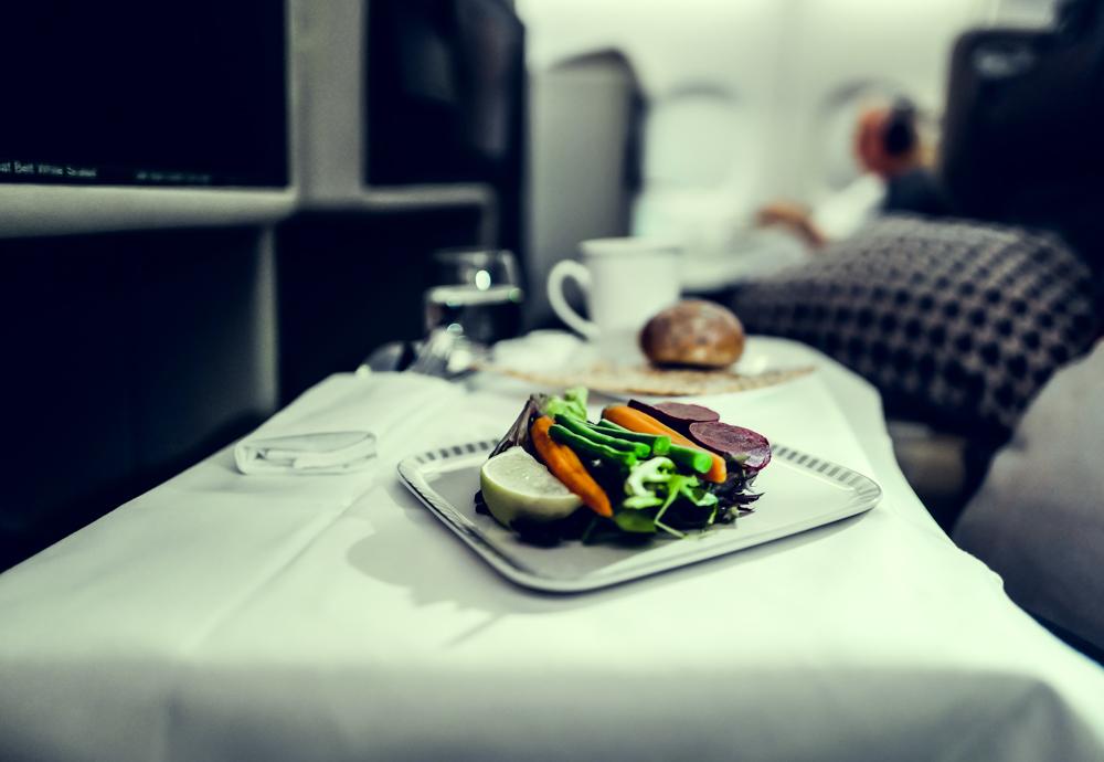 Business Class von Singapore Airlines Frühstück